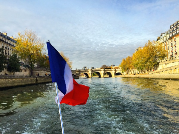 A view of a Seine tour we did in the week before the terrorist attack.