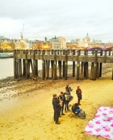 Impromptu beach serenade along the South Bank